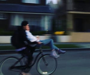bike, couple, and love story image