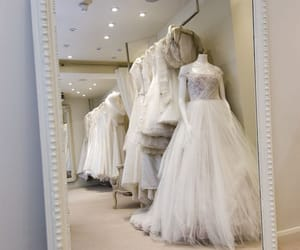 dresses, fiancee, and mirror image