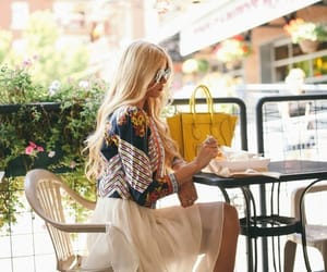 alone, cafe, and girl image