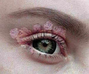 rose, eye, and pink image