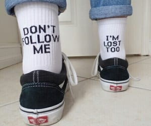 vans, socks, and lost image