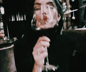 girl, wine, and beauty image