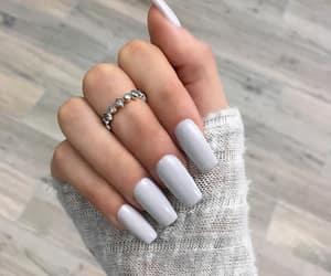 nails, beauty, and ring image