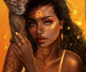 Leo, lion, and zodiac image