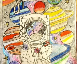 art, astronaut, and beauty image