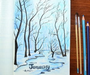 winter and january image