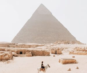 travel, egypt, and pyramid image