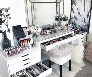 home, interior, and make up image