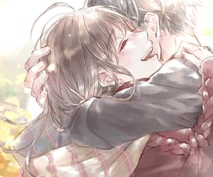 lovely and anime couple image