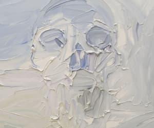 art, skull, and blue image