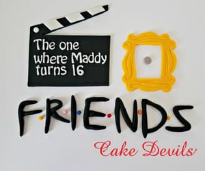 cake, friends, and etsy image