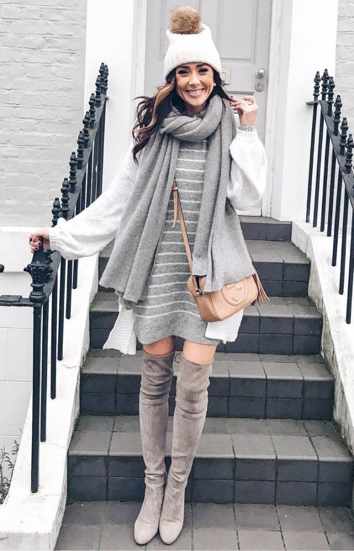 fashionable winter dresses for girls
