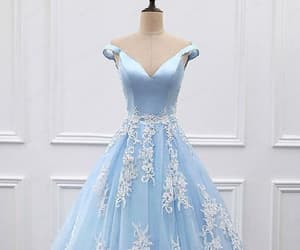 prom dress blue, prom dress ball gown, and custom prom dress image