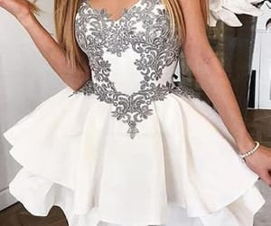 short homecoming dresses, lace homecoming dresses, and homecoming dresses white image