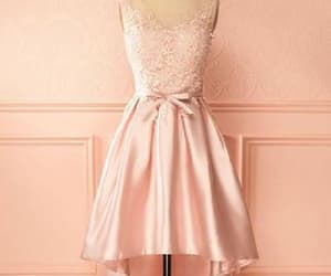 pink prom dresses, a-line prom dresses, and appliques prom dresses image