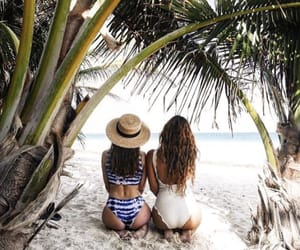 beach, travel, and tulum image