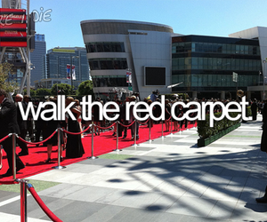 red carpet, bucket list, and famous image
