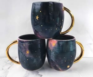 cup, drinks, and galaxy image