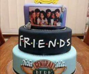 birthday, cake, and chandler bing image