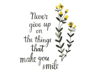 quotes, smile, and flowers image