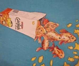 fish, goldfish, and art image