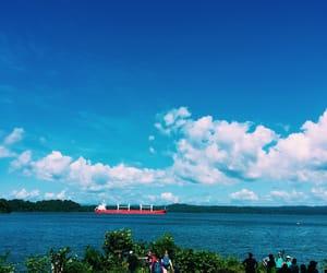 blue, boat, and panama image