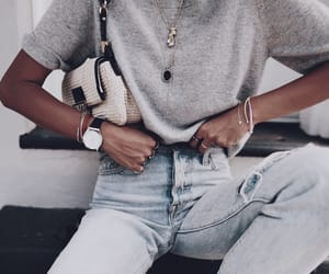 casual, denim, and fashion image