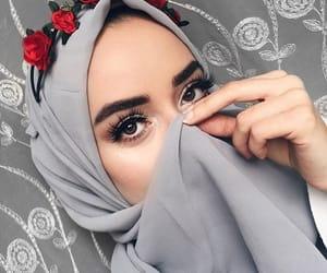 grey, gris, and hijab image