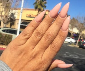 long nails, cute nails, and pink stilettos image