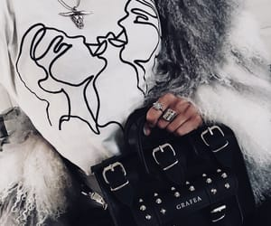 fashion, fur, and graphic tee image