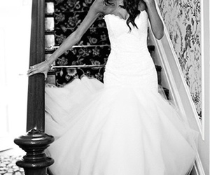pretty, wedding, and brunette image