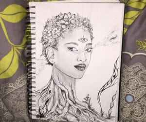 art work, drawing, and willow image