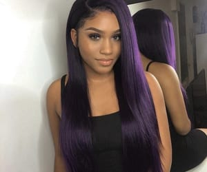 hair, purple, and weave image