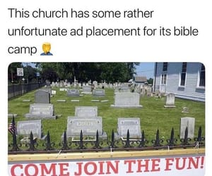 advertisements, church, and death image