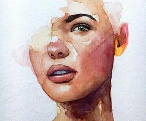 art, big lips, and beauty image