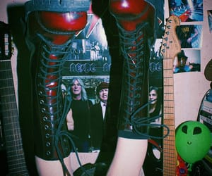 ACDC, boots, and goth image