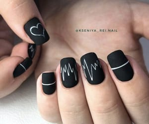black, hands, and nails image