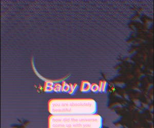 aesthetic, baby doll, and background image