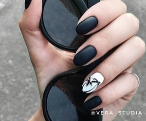 black, nails, and hands image