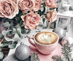 coffee and rose image