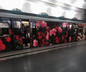 flowers, subway, and metro image