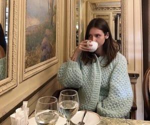 girl, aesthetic, and tea image