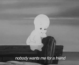 sad, friends, and casper image