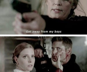 dean winchester, mary winchester, and supernatural image