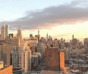 buildings, gold, and manhattan image