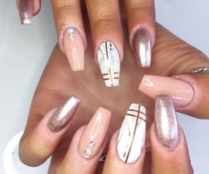 glitter, marble, and nails art image
