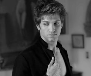 black and white, crush, and keegan allen image
