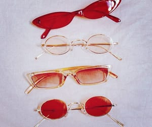 red, glasses, and aesthetic image