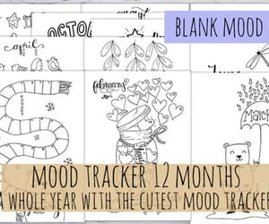 etsy, mood tracker, and journal image