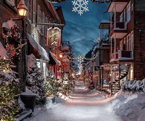 christmas, lights, and quebec image
